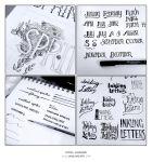 Hand Lettering Sketchbook by emla