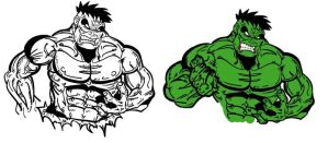 Hulk Vector Lineart by Killswitch-Chris