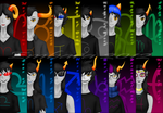 Homestuck Trolls by Embara