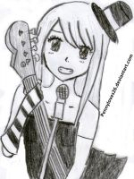 Lucy Cosplaying Mio akiyama! :D by Pennyloves26