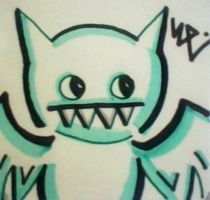 Ice-Bat Post-It by dark-es-will