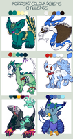 Color Challenge Creatures by EdenHall