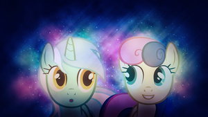 Lyra and Bon Bon Wallpaper by SandwichDelta
