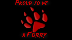 Proud to be a Furry - Wallpaper by Ivaalo