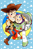 Woody and Buzz by Green-Kco