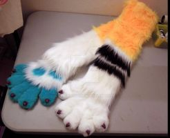 Wip paws and  arm sleeves! by Elaina246