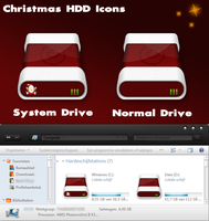 Christmas HDD Icons by hello-123456