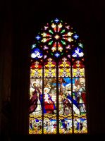 Stained Glass at St. Gatien by Angel-Escondida