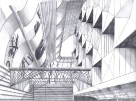 Abstract Perspective drawing 2 by Drawer888