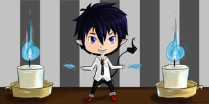 Rin Okumura and the Candle Task by ssbbgamergirl