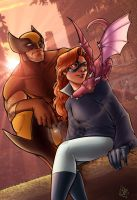 Wolverine and Shadowcat by ComfortLove