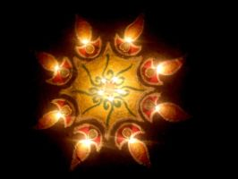 Rangoli with Lights by dr-malar
