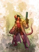 Hellboy Sketch by Rivard