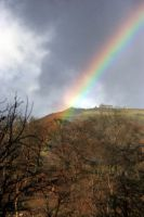 Castell Dinas Bran with rainbow. by MadDan