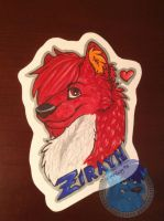 Zirayn Badge Commission by Silverfang98