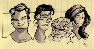 fantastic 4 sketch by rafael-pires