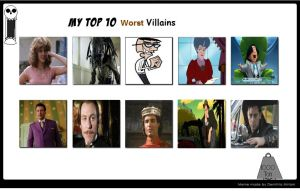 My Top 10 Worst Villains Meme by Normanjokerwise