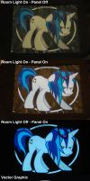 Vinyl Scratch Attack - Jacket Panel by SDC2012