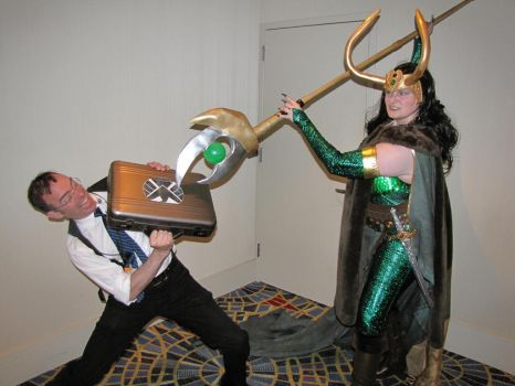 Lady Loki Says Hello to S.H.I.E.L.D. by Wiccanslyr