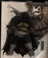 Bat Vs. Scarecrow by J5ALl53VRY