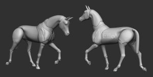 bjd horse doll by leo3dmodels