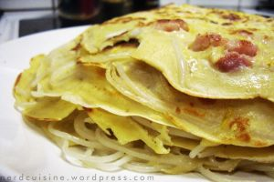 Rice Noodle Yellow Squash Pancakes by oskila