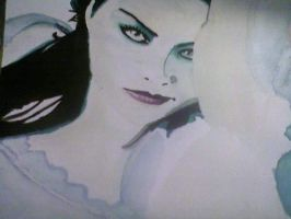 Lithium Single Cover Painting WIP by ForeverFallen16