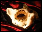 mask in red satin by lisadanimer