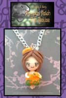 Pumpkin Patch Chibi Necklace by Octopop-n-Aicing