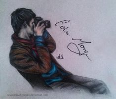 Merlin - Colin Morgan with camera by AnastasiyaKosenko