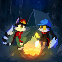 Campfire Commission by SmilehKitteh
