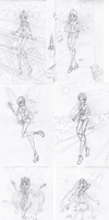 Winx club sketch's 1 by LaminaNati