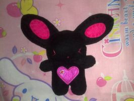 Chika Kawaii Bunny in black by Throughdangersuntold