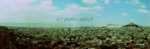 Athens from Acropolis, Greece. by VanDuzen