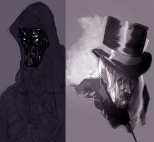 photoshop sketches by Alex0wens