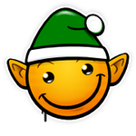 Graffiti Smiley: Xmas Elf (emotee) by mondspeer