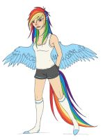 humanized rainbow dash by PitchTwinkle