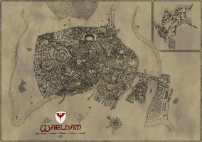 Waelham - Map for DnD by Squirrel-slayer