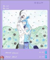 PKMN Absol and Glaceon by Adriyel-chan