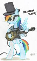 Rainbow Slash by contrail09