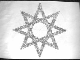 Eight point star by Trablete