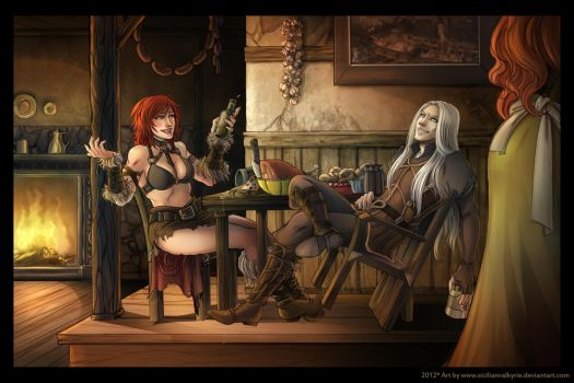 Comm: Beer Night by SicilianValkyrie