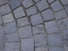 Cobblestone pavement by varna-stock
