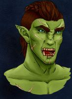 Bitting orc by Erridein