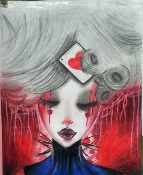 Queen Of Hearts by yukixcrazy