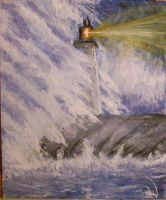Lighthouse in storm by Efirende