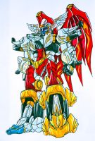 completed megazord by kishiaku