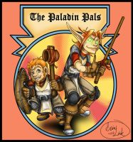 The Paladin Pals - Gidwin and Tarenar Youngsters by revelinart