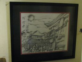 my newly framed drawing by ownerfate