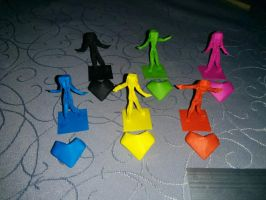 Origami gamepieces by pepel57